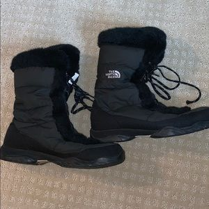 Faux Fur Lined Winter Boots NORTH FACE